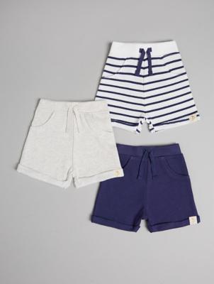 Billie Faiers Nautical Stripe Shorts 3 Pack