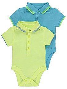 71a6b93b6c96 Neon Short Sleeve Polo Bodysuits 2 Pack