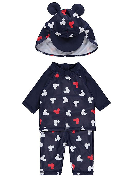 442440f452ce5 Disney Mickey Mouse Navy Sun Protection Top, Bottoms and Hat