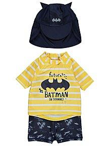e68a4a22b6 Batman Sun Protection UV40 Swim and Hat Set