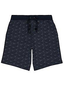 best service ac285 e9832 Navy Spray Print Jersey Shorts