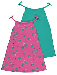 307817c947de61 Pink and Green Dresses 2 Pack