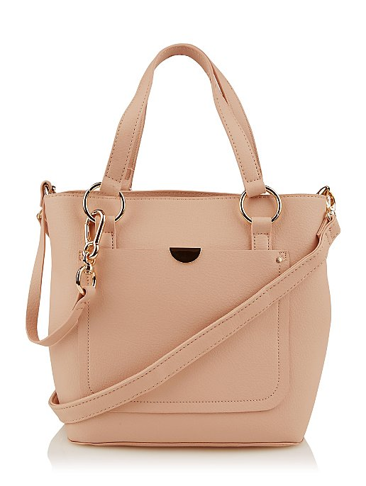e28fe42956df Pink Faux Leather Bucket Bag. Reset