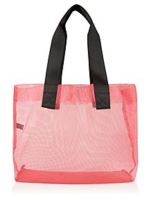 8817ca8261 Pink Mesh Beach Bag