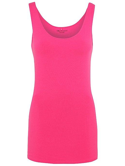Bright Pink Longline Vest Top Women George At Asda