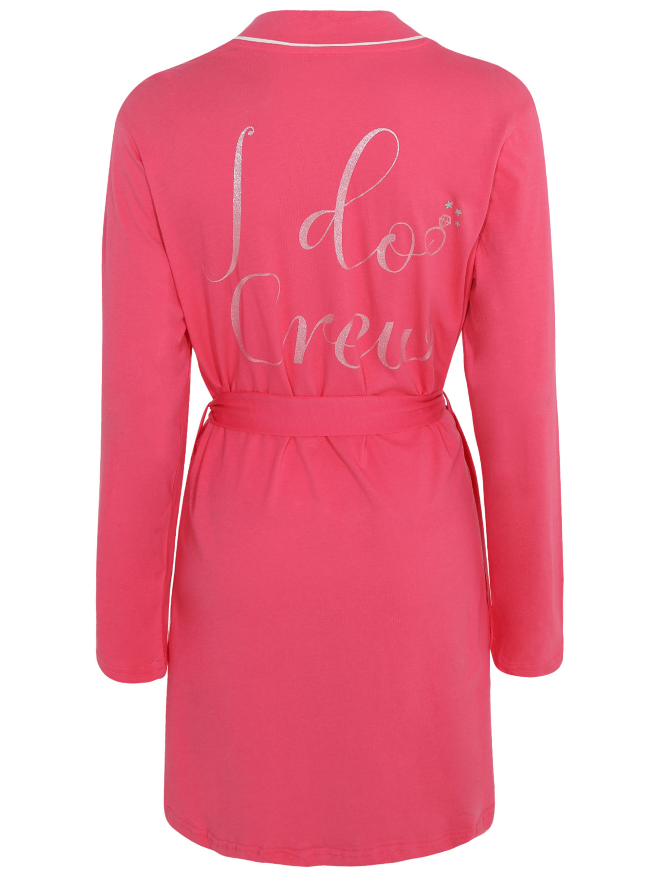 Pink Bride Slogan Dressing Gown Women George