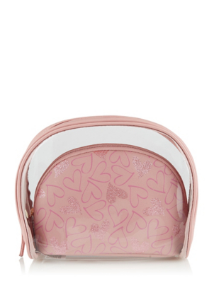 Pink 2 in 1 Makeup Bags Set