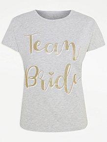 1c2e8fbb55525 Grey Marl Team Bride Slogan Top