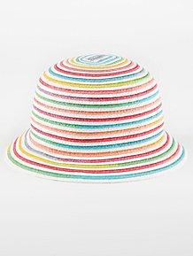 e3d6fb0057ec8 Rainbow Woven Cloche Hat