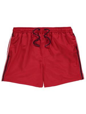 Red Side Stripe Swim Shorts