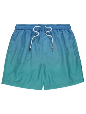 Blue Dip Dye Swim Shorts