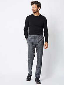 Clothes, Shoes & Accessories Mens 40w 31 Leg Black Trousers Florence And Fred