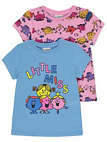 554a1b217 Little Miss T Shirts 2 Pack