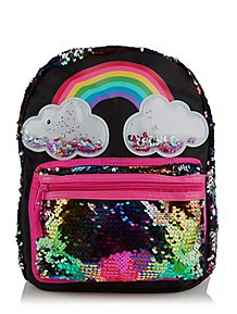 be8ae5d5847f Rainbow Swipe Sequin Rucksack
