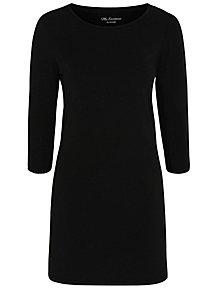 Black Longline ¾ Length Sleeve Jersey Top 81f7cd02279