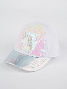 4269c2d70b6 Iridescent White Unicorn Cap