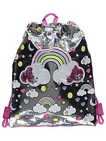 bc542c4e85 Silver Rainbow Sequin Pocket Swim Bag