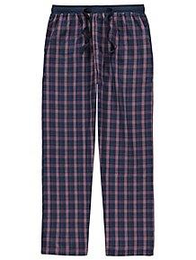 67f97cbb478a Navy Woven Check Loungewear Bottoms