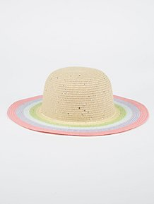 6d2db80a0b9 Colourful Striped Sequin Detail Floppy Hat