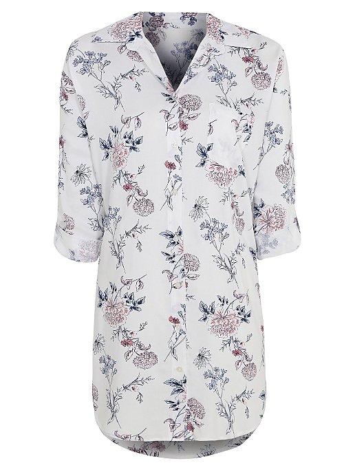 8245d3e7e1 Floral Shirt Nightdress. Reset