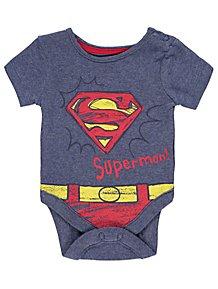 e4aadae3a63d DC Comics Superman Daddy Slogan Bodysuit
