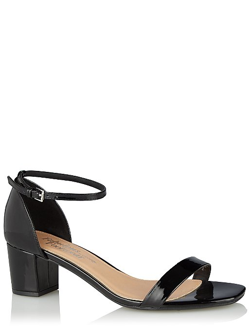 466718c3191 Black Patent Low Block Heels