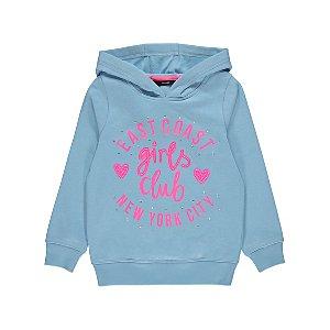 Blue Girls Club Slogan Hoodie