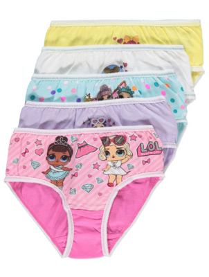 L.O.L. Surprise! Briefs with Stickers 5 Pack