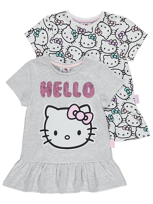 4169ac2f3647 Hello Kitty Printed Short Sleeve T-Shirts 2 Pack | Kids | George