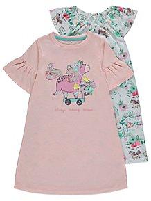 Pink Assorted Unicorn Nightdresses 2 Pack ae76daf50