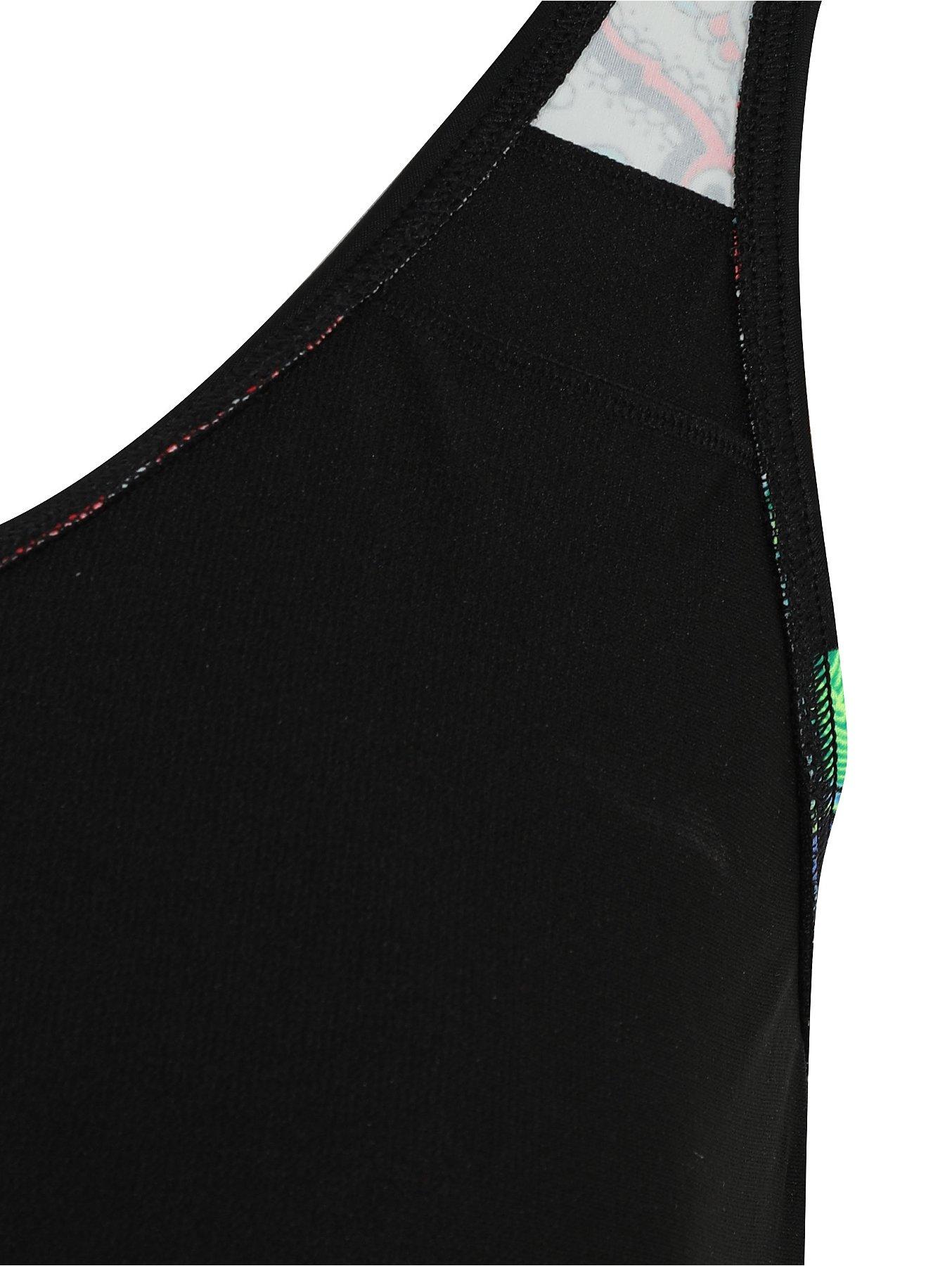 1d7228e16a2 Post Surgery Black Print Frilled Swimsuit | Women | George