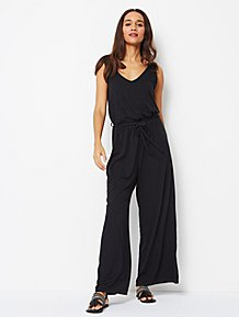 1f86007a6af Black Jersey Sleeveless Jumpsuit