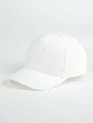 White Broderie Anglaise Cap