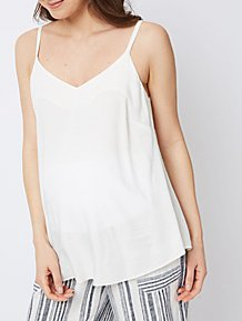 f8dbd9174a2 Maternity Cream Woven Camisole Top