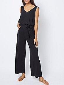 f800bd81d23d Maternity Black Jersey Sleeveless Jumpsuit