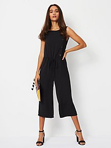 8c8af174939 Black Button Side Sleeveless Jumpsuit