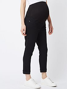 fcb8caedfdb Maternity Black Over Bump Cropped Jeans