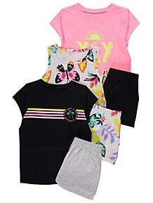 bde5b6884bc Assorted Short Sleeve Vacation Short Pyjamas 3 Pack