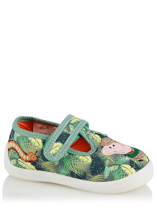9e524709f9f First Walkers Peppa Pig George Pig T-Bar Shoes