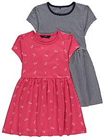 9db17ae97e1 Assorted Cherry Print Jersey Dresses 2 Pack. From £7