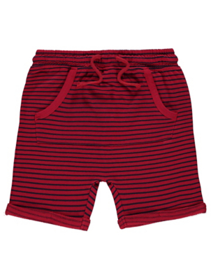 Red Striped Jersey Shorts