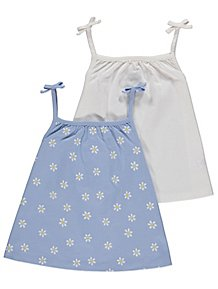 2cb1d081613330 Assorted Blue and White Sleeveless Tops 2 Pack. From £4