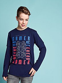 Navy Gamer Long Sleeve Top 86d933366