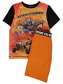 6948010801 The LEGO Movie 2 Orange Short Sleeve Pyjamas