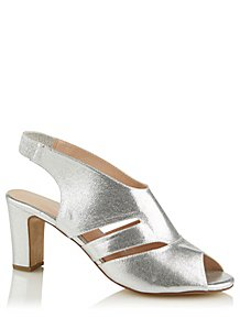 04f94a66165 Silver Faux Suede Cut Out Heels