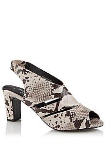 28052787f2e Snakeskin Print Cut Out Heels