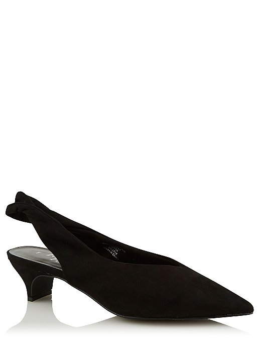factory price release date cheap price Black Pointed Slingback Kitten Heels | Women | George