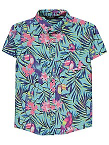 4d27cd0fc Blue Tropical Short Sleeve Shirt