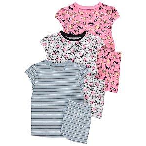 Assorted Short Sleeve Short Pyjamas 3 Pack
