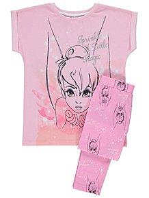 Disney Tinker Bell Pink Glitter Short Sleeve Pyjamas 5a5089e32